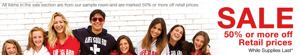 Lifeguard Sale, Sweatshirts, Hoodies, Swimming wear, T Shirts etc